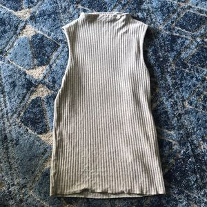 Zara Knit Grey Mock Turtleneck/ high neck Small